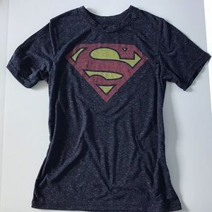 Superman Graphic Tee Boys Large EUC